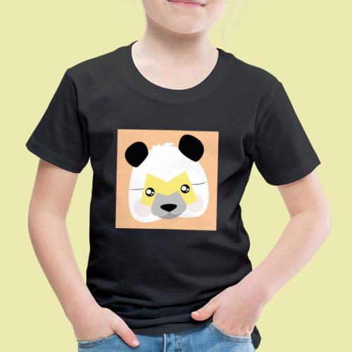 Amazing Super Panda with M mask! - Premium T-skjorte for barn