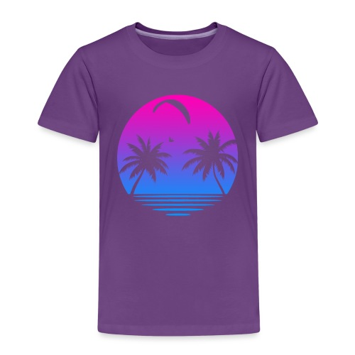 Paragliding Sunset - Kinder Premium T-Shirt