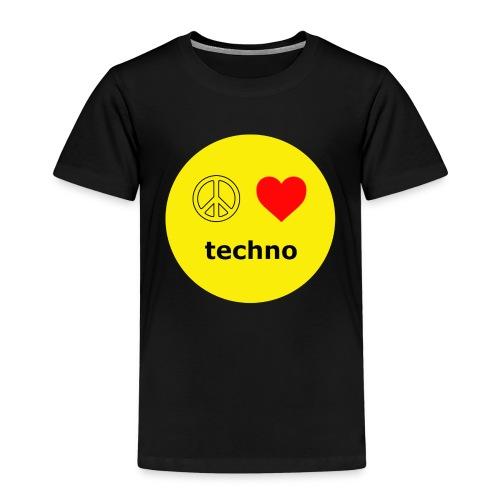 paz amor techno - Camiseta premium niño