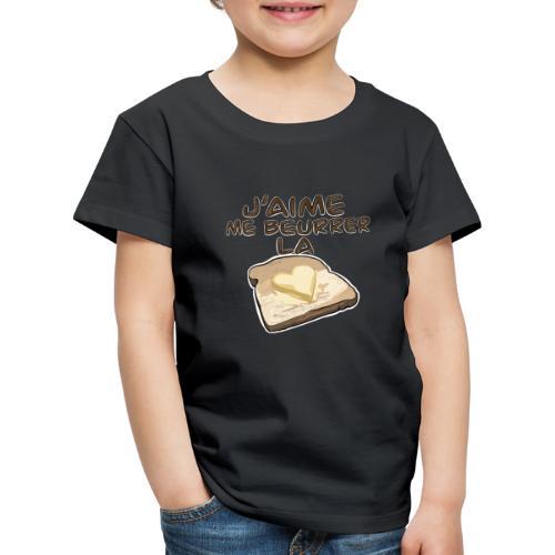 J'aime me beurrer la biscotte V2 - T-Shirt Humour - T-shirt Premium Enfant