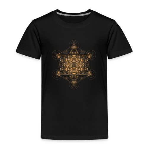 Fractal Metatron's Cube Orange - Kids' Premium T-Shirt