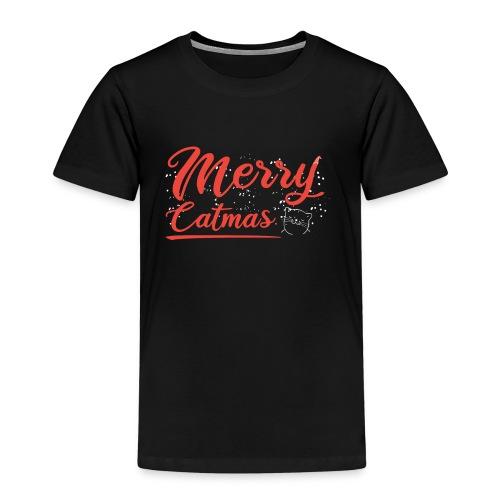 Merry Catmas Weihnachtskatze - Kinder Premium T-Shirt