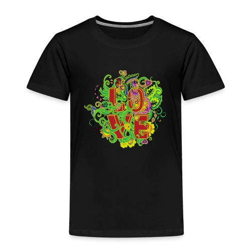 Kwiatowe love - Koszulka dziecięca Premium