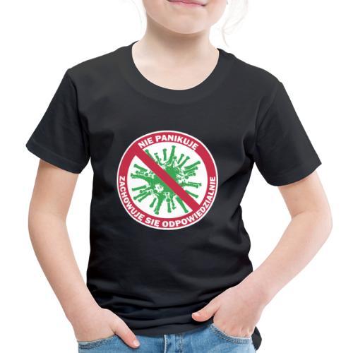 nie panikuje corona-virus - Koszulka dziecięca Premium