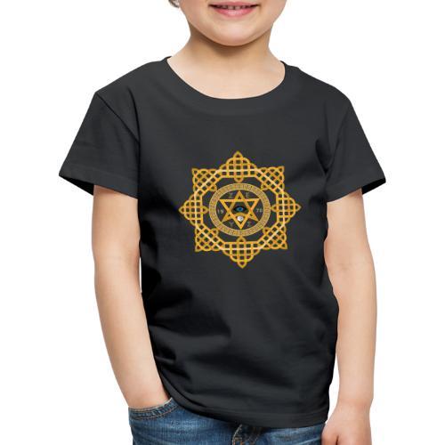 Hexagram ZEUS Mandala 1970 YinYang. 5. Dimension - Kinder Premium T-Shirt