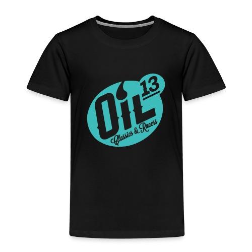 Oil13 Logo Scudo001 transparente azul 001 - Camiseta premium niño