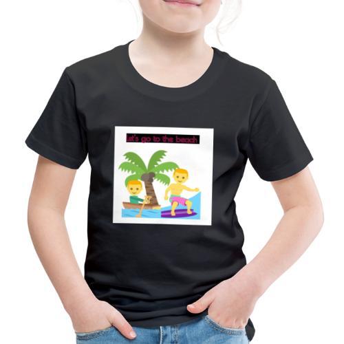 beach - Premium-T-shirt barn