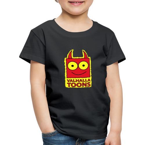 Valhalla Design 1 yellow bg - Kids' Premium T-Shirt