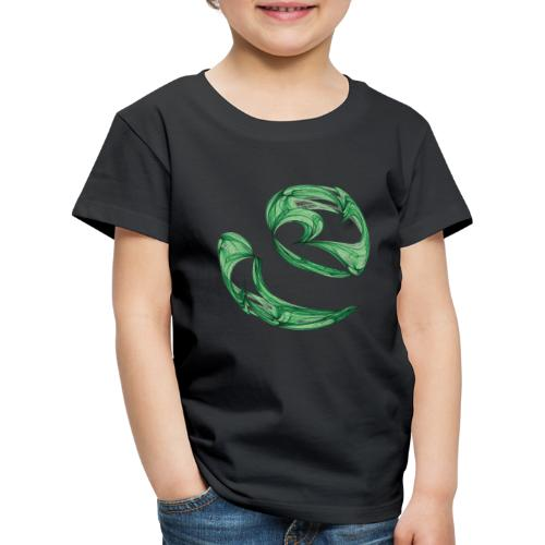Unequal pair of green twins in the wind 7761alg - Kids' Premium T-Shirt