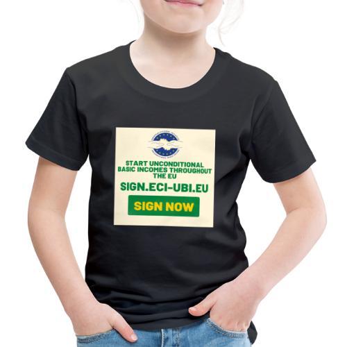start unconditional basic incomes - Kinderen Premium T-shirt