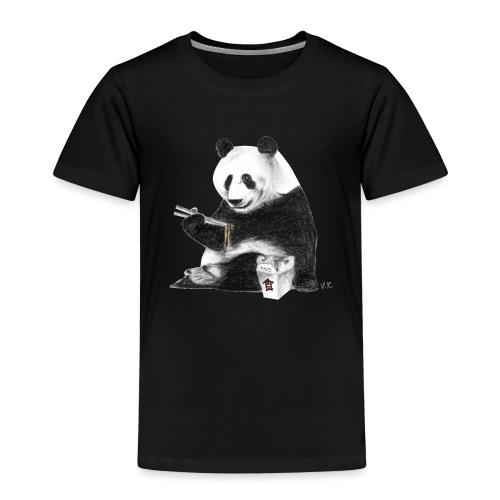 Panda Eating Noodles - Kids' Premium T-Shirt