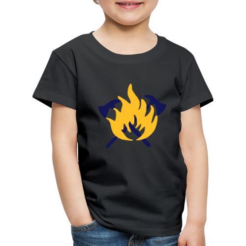 Feuerwehr Flamme und Beil - Kinder Premium T-Shirt