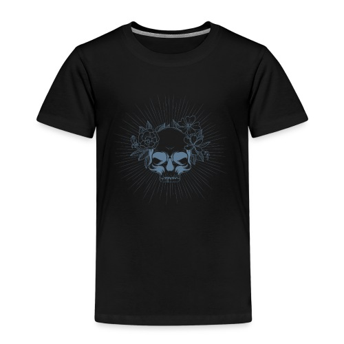 Crâne en fleur - T-shirt Premium Enfant