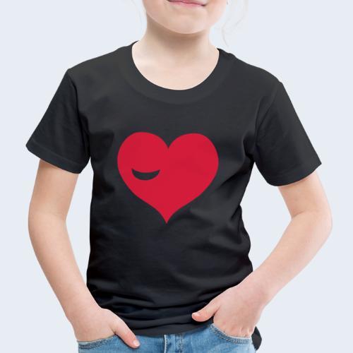 Winky Heart - Kinderen Premium T-shirt