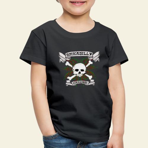 Rockabilly Raredog Skull - Børne premium T-shirt