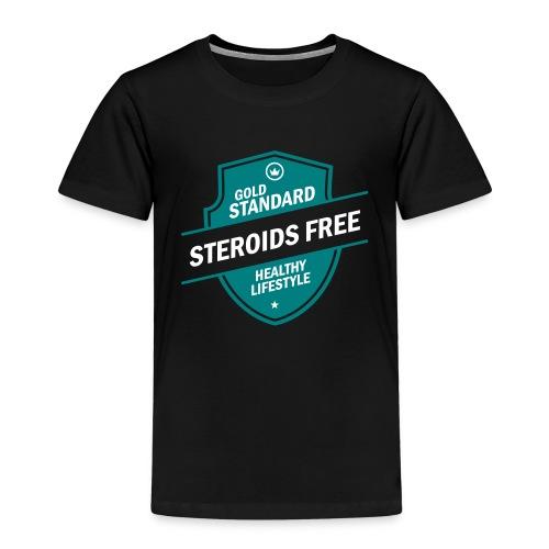 GoldStd-SteroidsFree-33 - Kids' Premium T-Shirt