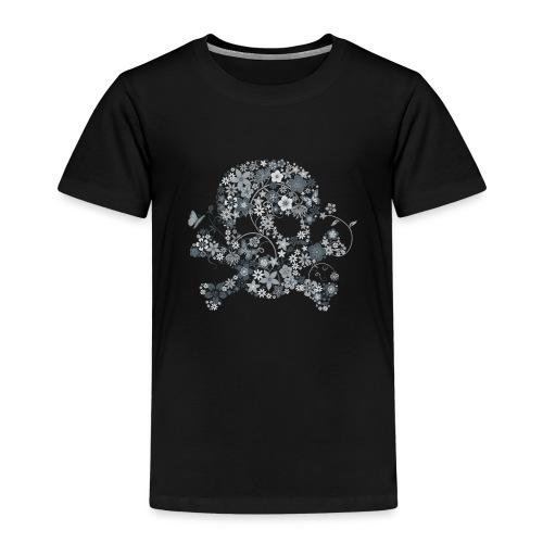 Tête de mort fleurs blanches - white flower skull - T-shirt Premium Enfant