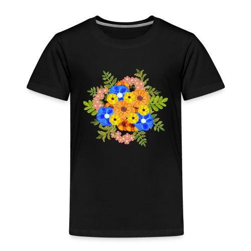 Blue Flower Arragement - Kids' Premium T-Shirt