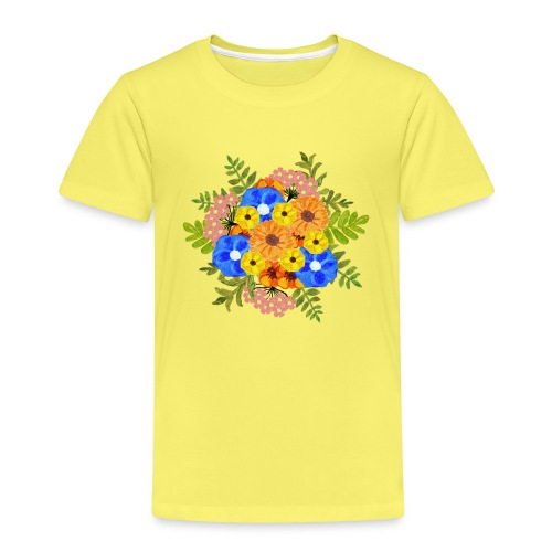 Blue Flower Arragement - Kids' Premium T-Shirt