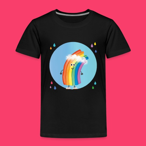 Rudi Regenbogen: Bio-Jutetasche Regentropfen - Kinder Premium T-Shirt
