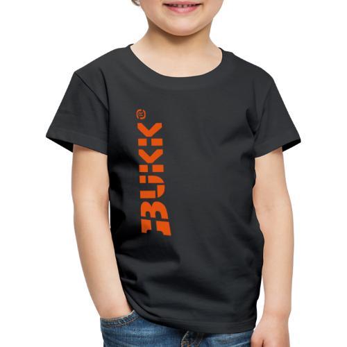 BUKK LOGO orange - Lasten premium t-paita