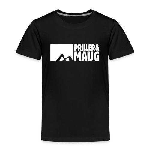 Priller&MAUG Logo WHT - Kinder Premium T-Shirt