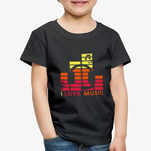 I love music Illustration Gig Band Musik Godigart - Kinder Premium T-Shirt