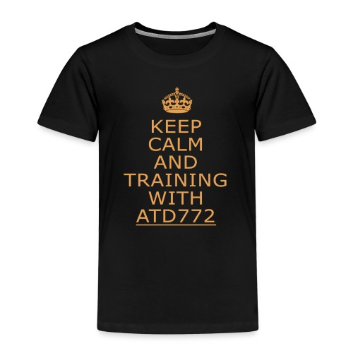 keep calm and Training with ATD772 - Maglietta Premium per bambini