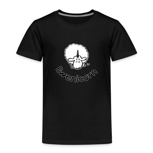 Ewenicorn (schwarze Ausgabe schwarzer Text) - Kinder Premium T-Shirt