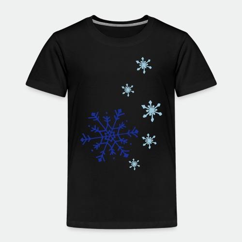 Snowflakes falling - Kids' Premium T-Shirt