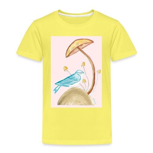 fungo con uccello - Maglietta Premium per bambini