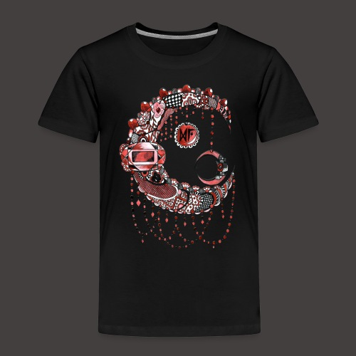 Lune dentelle Rouge - T-shirt Premium Enfant