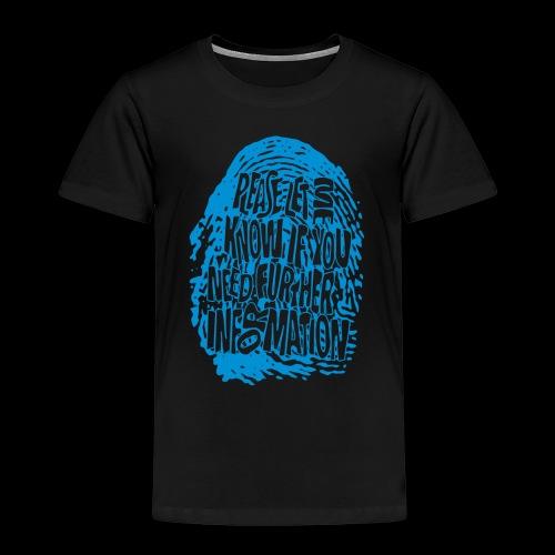 DNA, odcisków palców (niebieski) - Koszulka dziecięca Premium