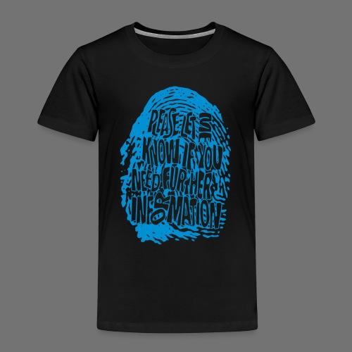 Sormenjälki DNA (sininen) - Lasten premium t-paita