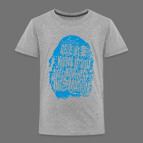Fingerprint DNA (blue) - Kinder Premium T-Shirt