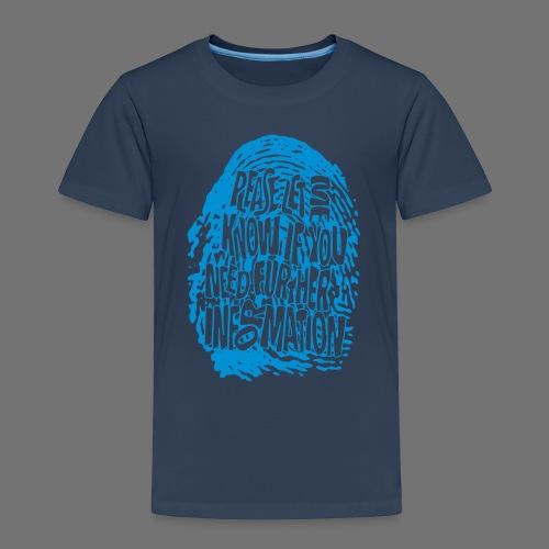 Fingerprint DNA (blue) - Kids' Premium T-Shirt