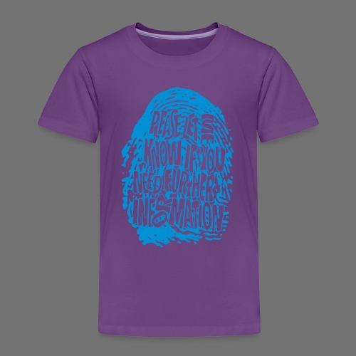 Fingerprint DNA (blue) - Kinder Premium T-Shirt