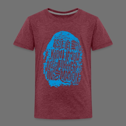 Fingerprint DNA (blue) - Kids' Premium T-Shirt