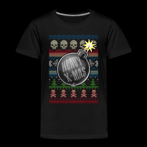 Heavy X-Mas Christbaumkugel-Bombe - Kinder Premium T-Shirt