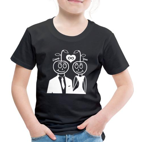 Happy Kirsche Weiß - Kinder Premium T-Shirt