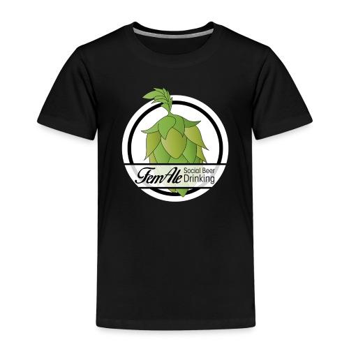 FemAle logo vit 01 png - Premium-T-shirt barn