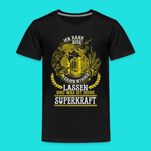 Bier Superkraft - Kinder Premium T-Shirt