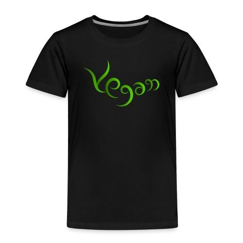 Vegaani käsinkirjoitettu design - Lasten premium t-paita