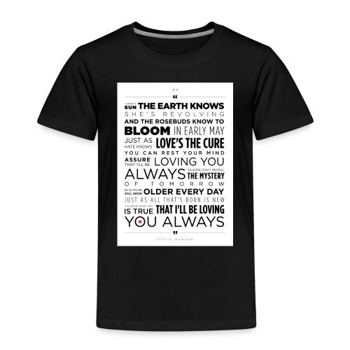 AS Stevie Wonder - Kids' Premium T-Shirt