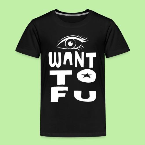 I WANT TOFU vegan vegetarian joke christmas gift - Kids' Premium T-Shirt