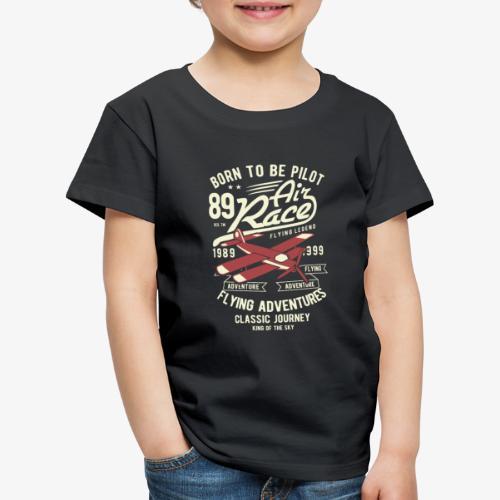 Né pour être pilote - T-shirt Premium Enfant