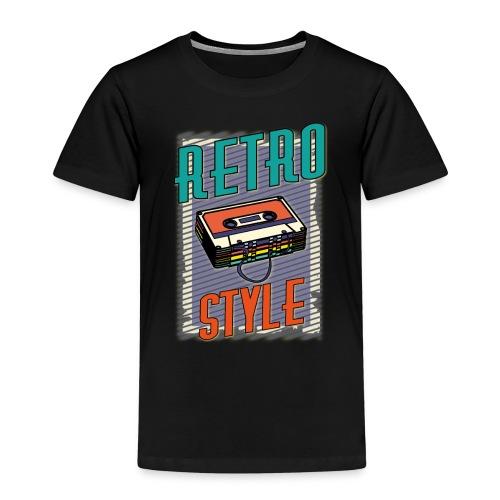 MUSIC RETRO STYLE 01 - Maglietta Premium per bambini