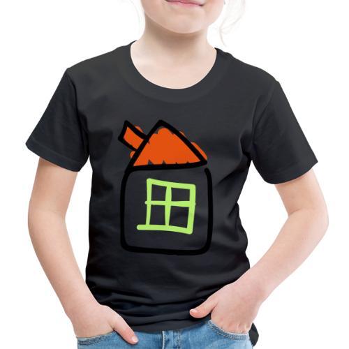 House Line Drawing Pixellamb - Kinder Premium T-Shirt