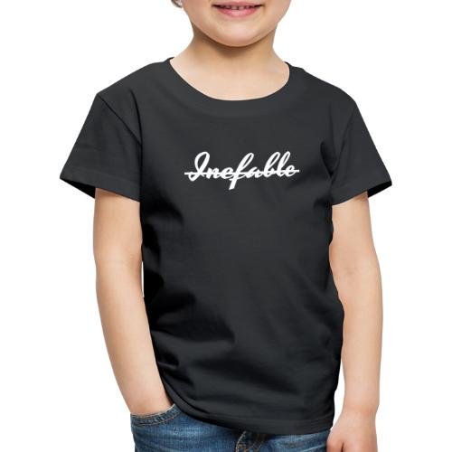 Inefable Tachado Blanco. - Camiseta premium niño