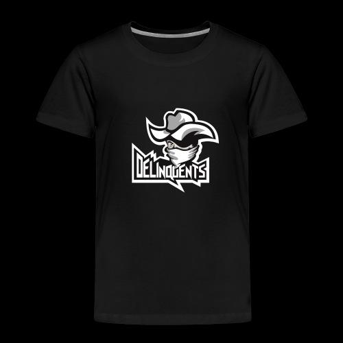 Delinquents Sort Design - Børne premium T-shirt